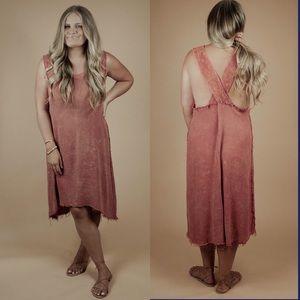 Mineral Washed Midi Dress